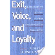 Exit, Voice and Loyalty - Responses to Decline in Firms, Organizations and States (Hirschman Albert O.)(Paperback) (9780674276604)
