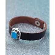 Dare by Voylla Milestone Embellished Leather Bracelet