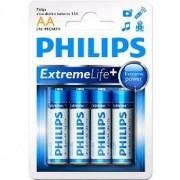 Philips Batterij Penlite LR06 Extremelife 1.5V AA Per 4 Stuks