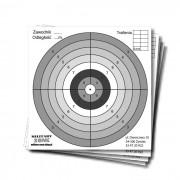 Tarcze strzeleckie do wiatrówki 14x14cm, kartonowe, 100szt