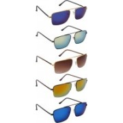 NuVew Wayfarer Sunglasses(Blue, Green, Red, Golden, Brown)
