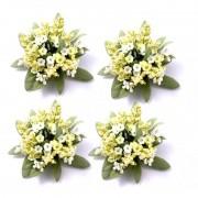 Ljusmanschetter 4-pack gula blommor