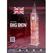 Paper Foam Core 3D Puzzle Model Big Ben 47 pcs