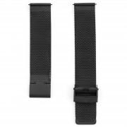 Dane Dapper Zwart Horlogebandje met Metallic Schakels