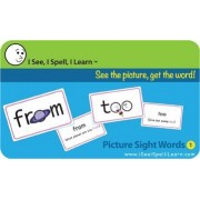 I See, I Spell, I Learn - Picture Sight Words Flashcards Sets 1 & 2 Combo Pack