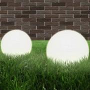 vidaXL Градински сфери за LED лампи, 2 бр, 20 см, PMMA