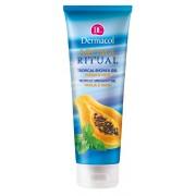 Dermacol Gel de duș Papaia și Mentă Aroma Ritual (Tropical Shower Gel) 250 ml