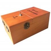 Creative Gracioso Presente Inútil De Madera Caja Novela Anti Estres Toy, Size: 15 * 9 * 7cm (madera Oscura)