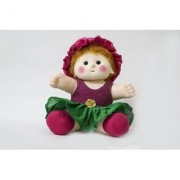 Baby Doll Girl Sania Pink/Green Color by Lovely Toys