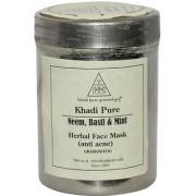 Khadi Pure Herbal Neem Basil Mint Face Mask (Anti-Acne) - 50g