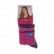 Дамски чорапи Gladys I Love You розови с морско сини ивици