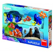 Puzzle 4 in 1 Dory in marea aventura, 54 piese, 4-8 ani