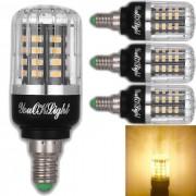 YouOKLight E12 3W blanco calido-40-SMD 5736 LED del bulbo del maiz (4 PCS)