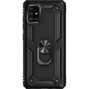 SaharaCase - Military Kickstand Series Case for Samsung Galaxy A51 5G - Black