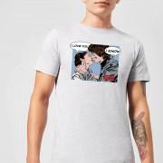 Star Wars Leia Han Solo Love Men's T-Shirt - Grey - S - Grey