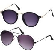Freny Exim Aviator, Round Sunglasses(Violet)