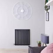 Hudson Reed Radiateur design électrique horizontal - Anthracite - 63,5 cm x 60 cm x 5,4 cm - Sloane