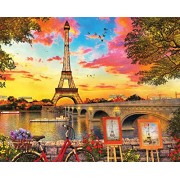 Springbok Puzzles - Paris Sunset 1000 Piece Jigsaw Puzzle Large 30 by 24 Made in USA Unique Cut Interlocking Pieces