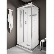 Box doccia idromassaggio rettangolare 140x80 cm White Space bianco