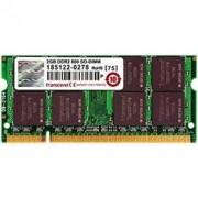 Unknown Transcend 2GB RAM Laptop geheugen 200P DDR2 SODIMM(256Mx64 128M x 8/DDR2/800 5-5-