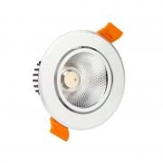 MoonLed - Foco LED circular direcionável Ø11'5x6'5cm 12W prateado - MoonLed
