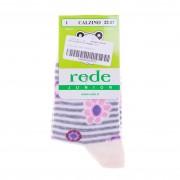 Детски чорапи Rede 8 бежови със сиви ивици