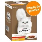 12 x 85 g - Gourmet Gold Variado Mousse Pack de prueba en latas comida húmeda para gatos