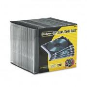 Slim Jewel Case, Clear/black, 25/pack