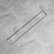 vidaXL Rovný sprchový odtok, 830x140 mm, nerezová oceľ