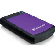 HDD Extern Transcend 25H3P, 2.5 inch, 1TB, USB 3.0, Protectie la soc (Negru/Violet)
