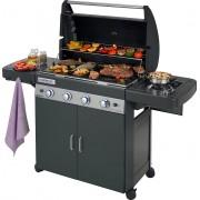 campingaz 2000033885 Barbecue A Gas Bbq Da Giardino Con Coperchio Ruote E Fornello Laterale Potenza 12.8+2.3 Kw - 2000033885 - 4 Series Classic Ls Plus Dark