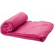 Merkloos Fleece deken roze 150 x 120 cm
