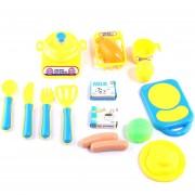 18Pcs Juguetes De Cocina 360DSC - Azul
