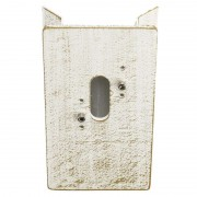 Corner block for outdoor wall lights, white-gold