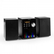 MC-200 LED Micro Impianto Stereo Bluetooth CD USB MP3 VHF AUX Pannello LED
