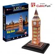 Puzzle 3D cu LED Big Ben, 28 piese