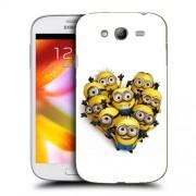 Husa Samsung Galaxy Grand Neo i9060 i9080 i9082 Silicon Gel Tpu Model Minions Heart Shape