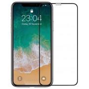 Folie Protectie Sticla Securizata Zmeurino Full Body 3D ZMVIP_IPHXSMAX pentru iPhone Xs Max (Transparent/Negru)