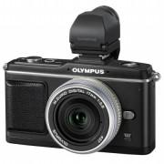 Digitalni fotoaparat E-P2 crni, Pancake komplet (srebrni) sa EVF tražilom OLYMPUS