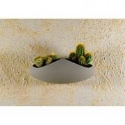 Kamena zidna saksija sa magnetom HELENA - Siva