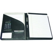 Monolith Leather Conference Folder With A4 Pad & Calculator