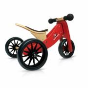 Kinderfeets Tiny Tot 2u1 drveni balans bicikl crveni