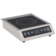 vidaXL Електрически индукционен плот със сензорен дисплей, 3500 W