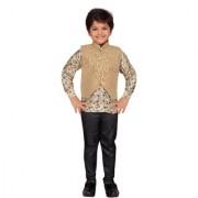 AJ Dezines Fawn Coloured Kids Party Wear Suit Set for Boys
