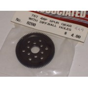 Associated AS8280 75T 48dp spur gear with 1/8th diff ball holes