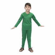 Kaku Fancy Dresses Plain Track Suit Costume Set -Green for Boys Girls
