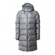 Rains Winterjassen Long Puffer Jacket Grijs