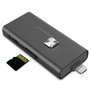 Ksix iMemory Extension Lightning / USB microSD Card Reader - iPhone, iPod, iPad