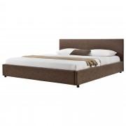 MyBed Cama tapizada 180x200cm marrón cuero sintético cama doble base de cama - Aretxabaleta