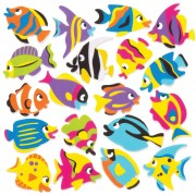 Baker Ross Tropical Fish Foam Stickers (Pack of 120)